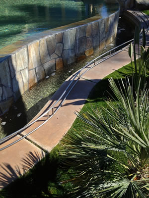 Rancho Mirage Infinity Edge Fire Feature July 2015
