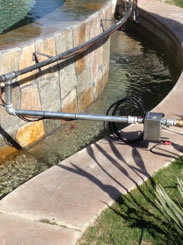 Rancho Mirage Custom Fire On Water Feature Design And