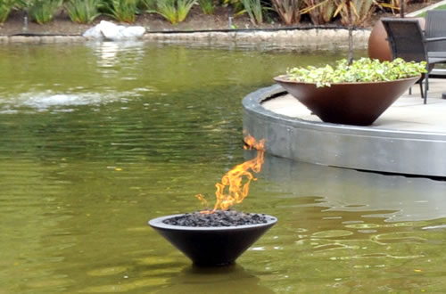 Fire on Water Features