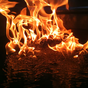 Automated Fire On Water Surface System